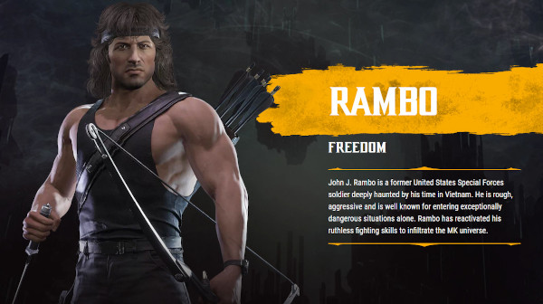 Mortal Kombat 11 Ultimate: Official Rambo Gameplay Trailer