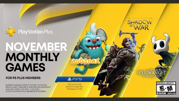 PlayStation Plus PS4/PS5 Games for November 2020