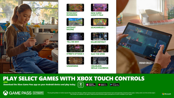 New Xbox Touch Controls on Mobile for Cloud Gaming