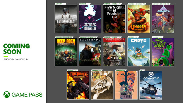 More Games Coming to Xbox Game Pass for Android, Console, and PC